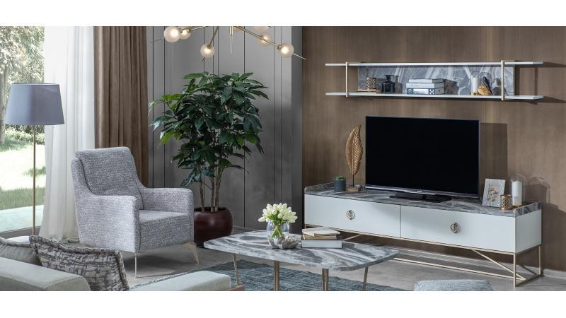 Loft Gold Tv Ünitesi